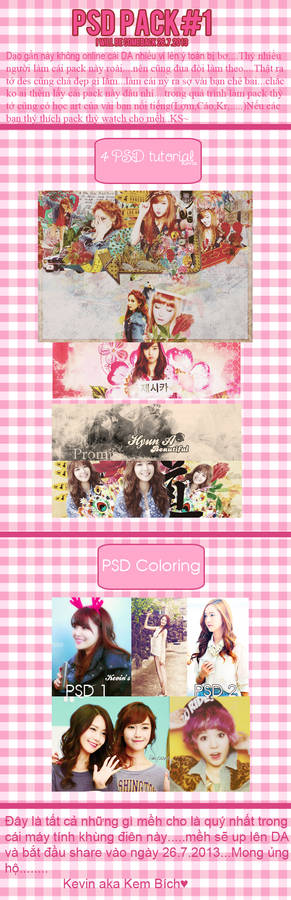PSD PACK #1 By Kevin....Gift for my watch