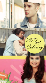 PSD Coloring #4 ( Justin BB and Selena Couple)
