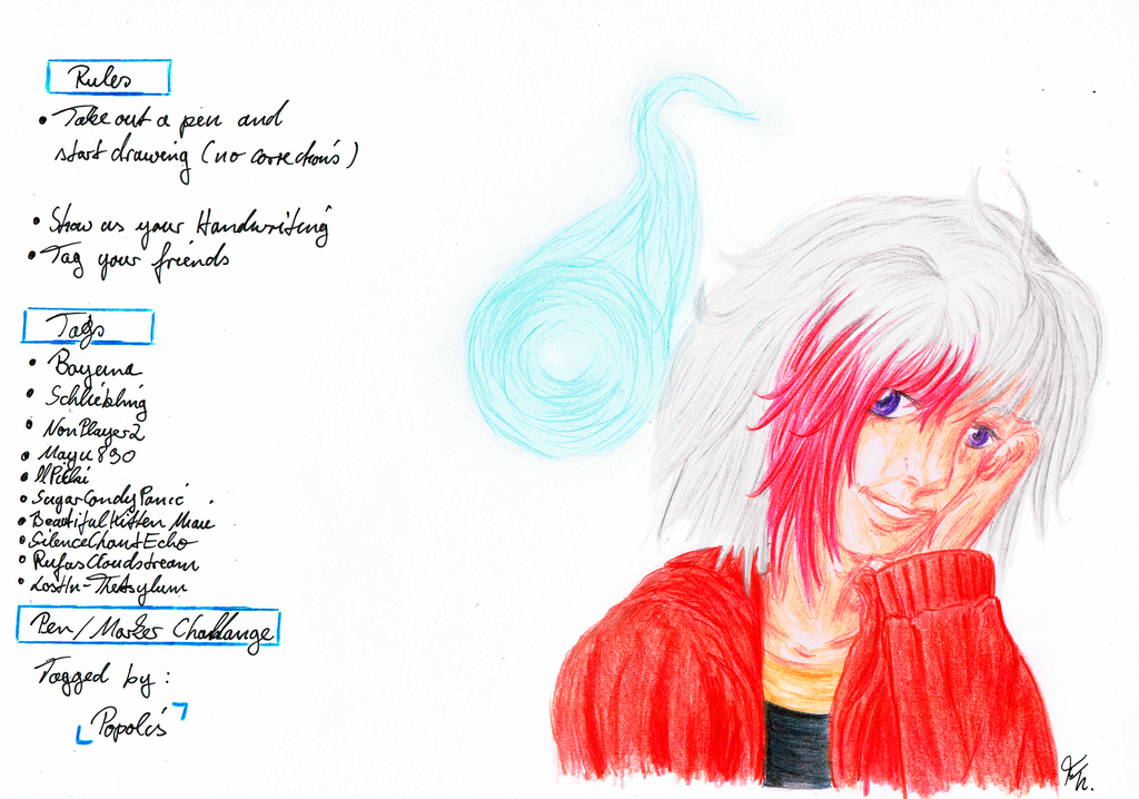 Pen- Marker Challenge - I was tagged ^^ by Izayoi1265