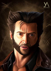 Portrait art - Hugh Logan Jackman by yashartz