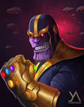 Fan art - Thanos with the infinity gauntlet