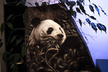 Panda burning by Pyrotattooing