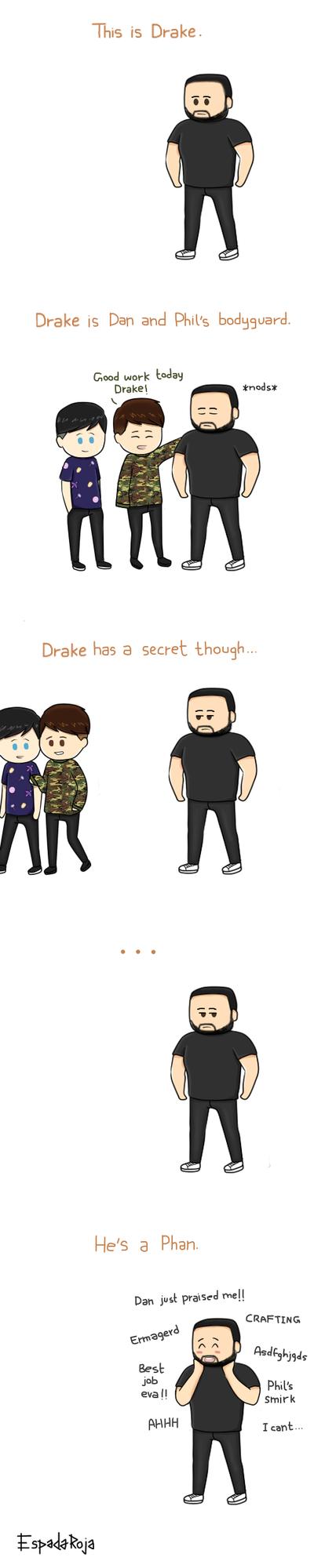 Drake the bodyguard by espadaroja