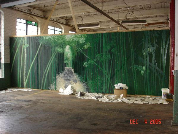 Bamboo forest temple mural 1 by dr34mcrush3r on deviantart for Bamboo forest mural