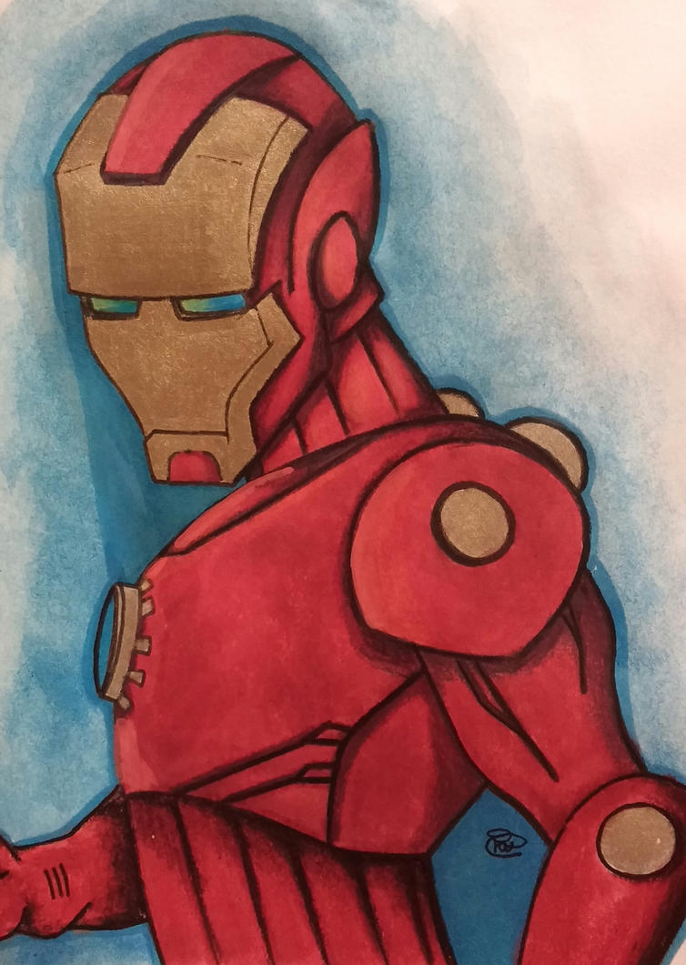 Iron man commission by Sew-What