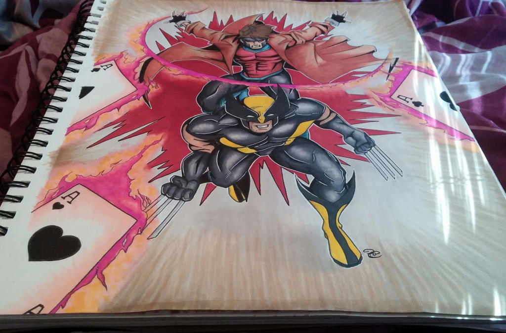 X-Men comission finished by Sew-What