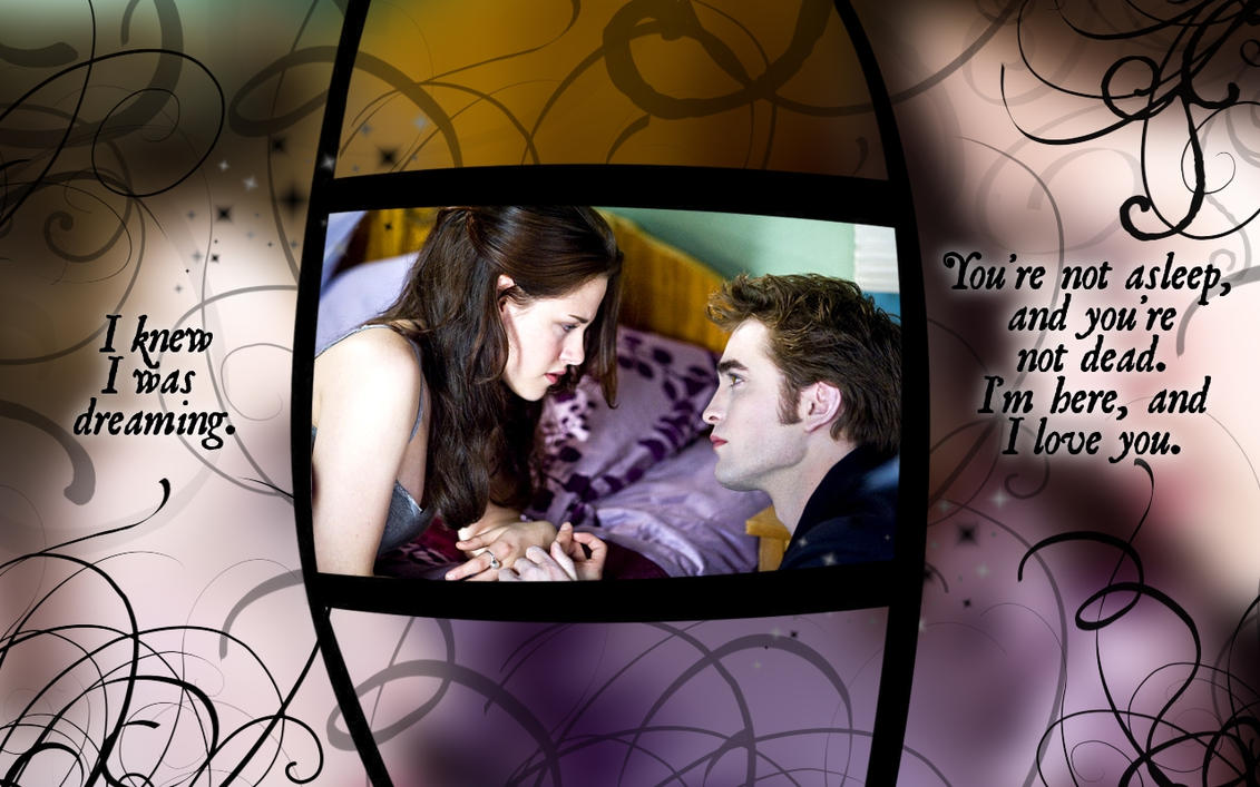 edward and bella wallpaper nm by geekmommashup on deviantart