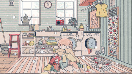 Daydreaming Laundry Room by noellemonade