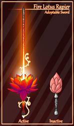 Fire Lotus Rapier [CLOSED]