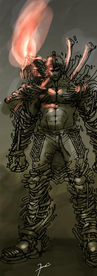 Bone armor sketch by darkeyez07