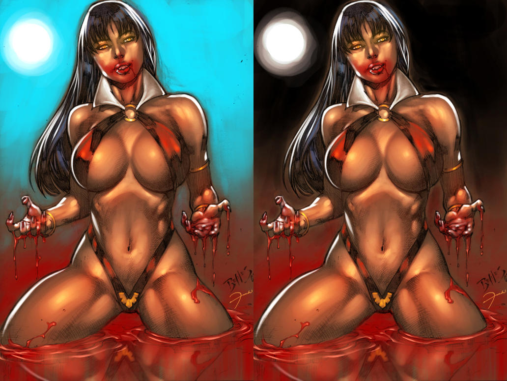 Vampirella By edbenes colored by darkeyez07