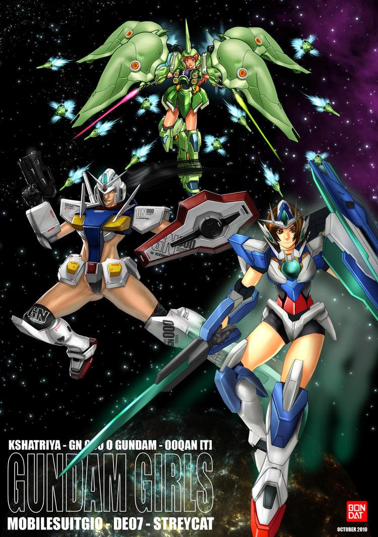 Gundam Girls ArtJAM by darkeyez07