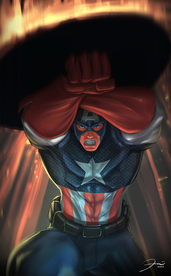 Captain America by darkeyez07
