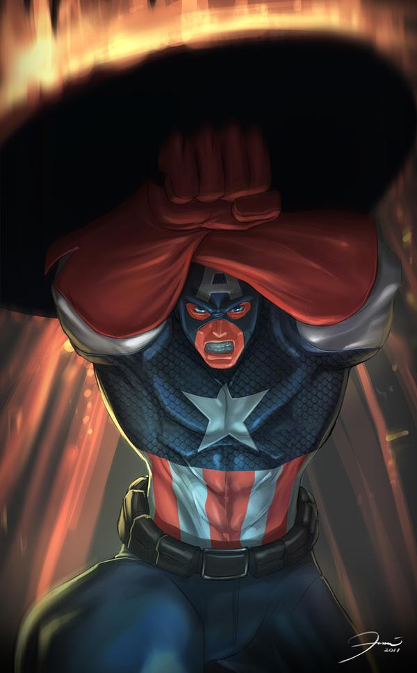 Captain America by darkeyez07