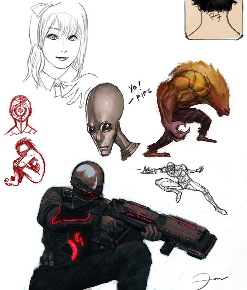 Sketches by darkeyez07