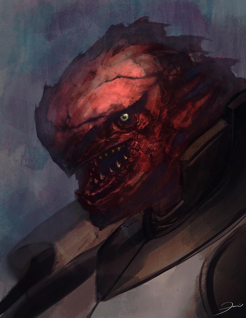 Alien Face Studies by darkeyez07