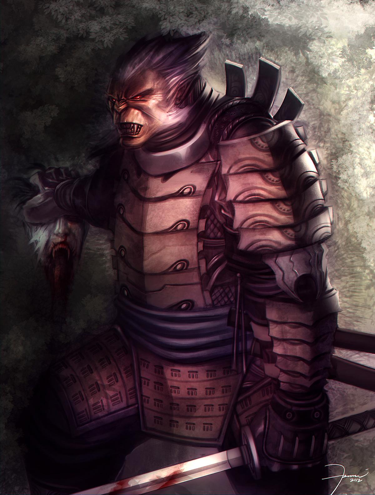 Vampire vs werewolves Ninja by darkeyez07