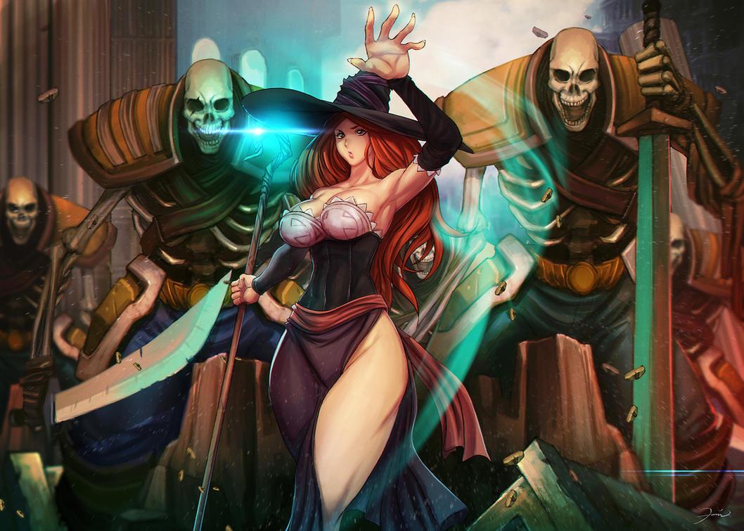 dragon`s crown sorceress by darkeyez07