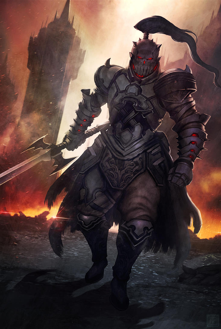 Skull Knight by darkeyez07