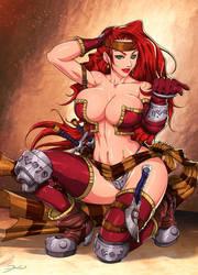 Red Monika by darkeyez07