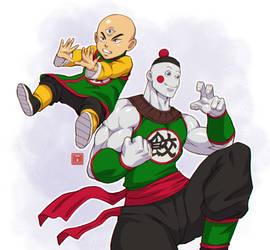Tenshinhan and chaozu (mutiverse)