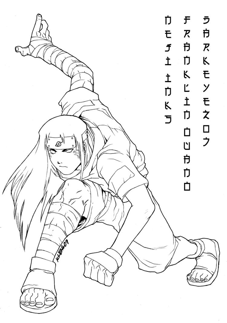 Neji inks Byakugan by darkeyez07 on DeviantArt