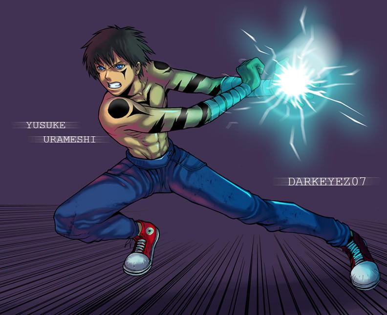 Yusuke shotgun by darkeyez07 on deviantart for Yusuke demon