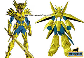 Saint God Cloth Odin Digimon Aiolia (Soul of Gold) by AntaresHeart07