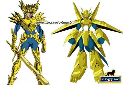 Saint God Cloth Odin Digimon Aiolia (Soul of Gold)