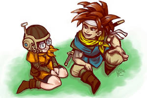Crono and Lucca by EmperorAtma