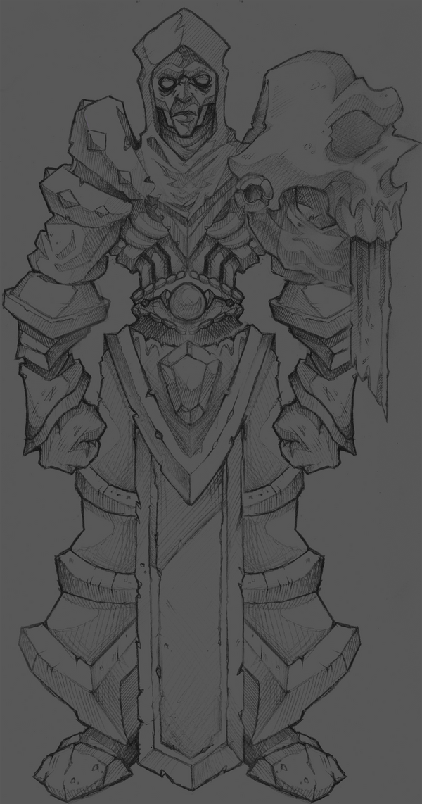 Shadow Cleric Sketch by Necro--Art
