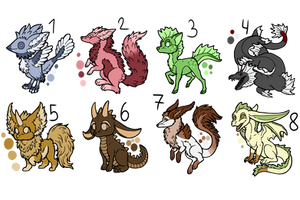 Creature Adopts - 15 Points Each - 2/8 Open! by I-Sell-Adopts
