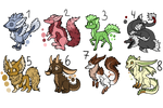 Creature Adopts - 15 Points Each - 2/8 Open!