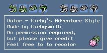 Gator - Kirby's Adventure Style