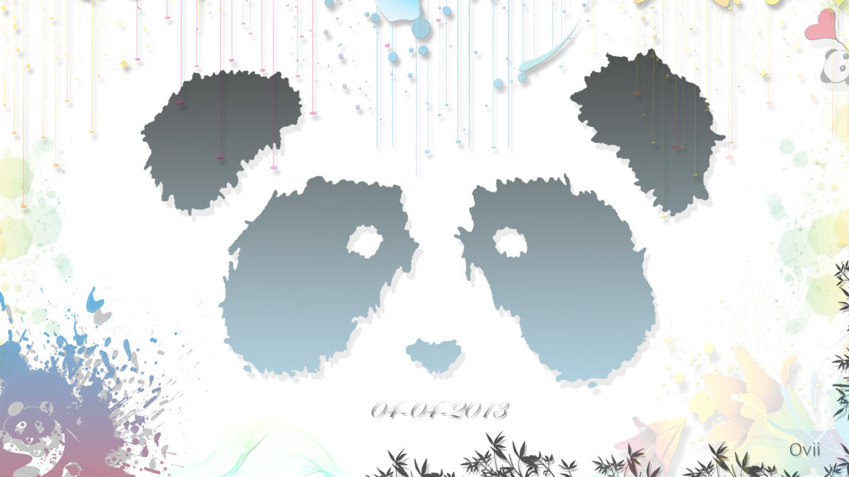 Panda Wallpaper 1366x768 Px HD Quality By Ovii Graphics