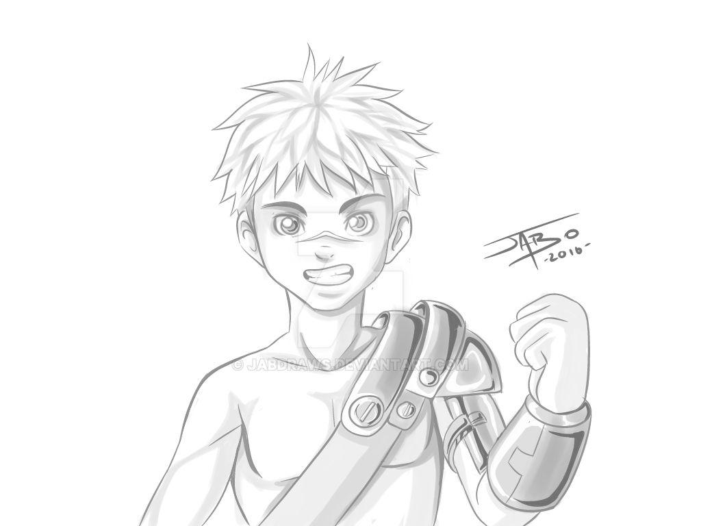 practice manga boy by jabo-creativeart