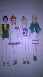 Trendy quartet by andrea-gould