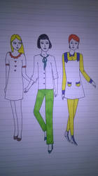 3 friends in fashion by andrea-gould