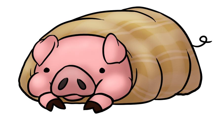 Cartoon Pigs In A Blanket Pig in a blanket by