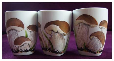 Boletus mushrooms by Xantosia