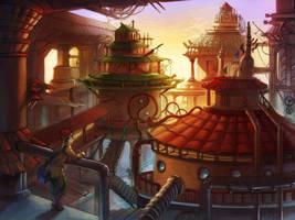 Oriental Steampunk by superspacemonkey