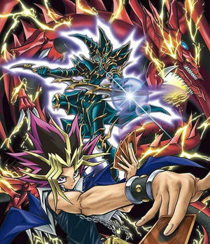 Atem With Dark Paladin and Silfer The Sky Dragon