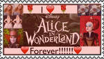 I love Alice in Wonderland Forever Stamp by SamApeace