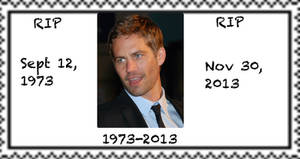 RIP: Paul Walker Stamp