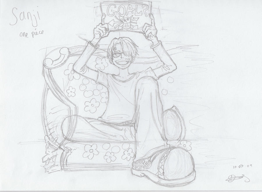 One Piece_Sanji Holding Sign by Timeless4Life