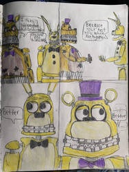 A dumb old fnaf 4 comic I made 4 years ago. by Fazscare87