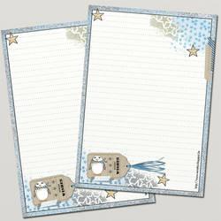 Printable stationery - winter theme by Sensiwoman