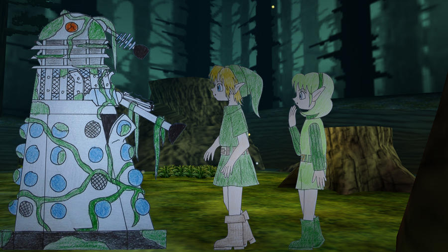 Link and Saria's discovery by Animedalek1