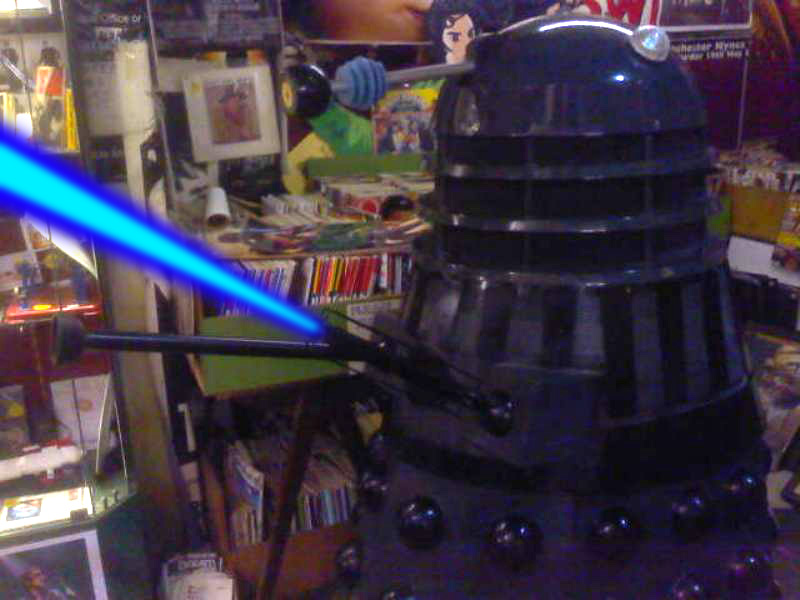 Dalek in shop shooting by Animedalek1