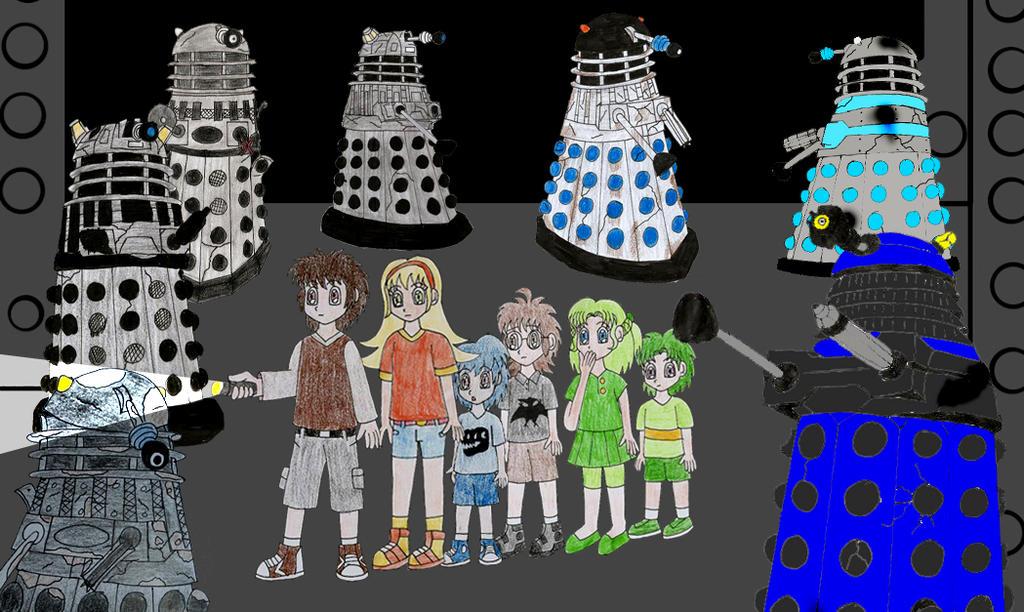 Human lbt gang in the dalek asylum by animedalek1